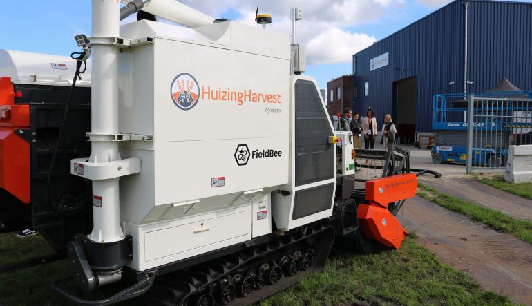 First Autonomous Harvester powered by eFarmer